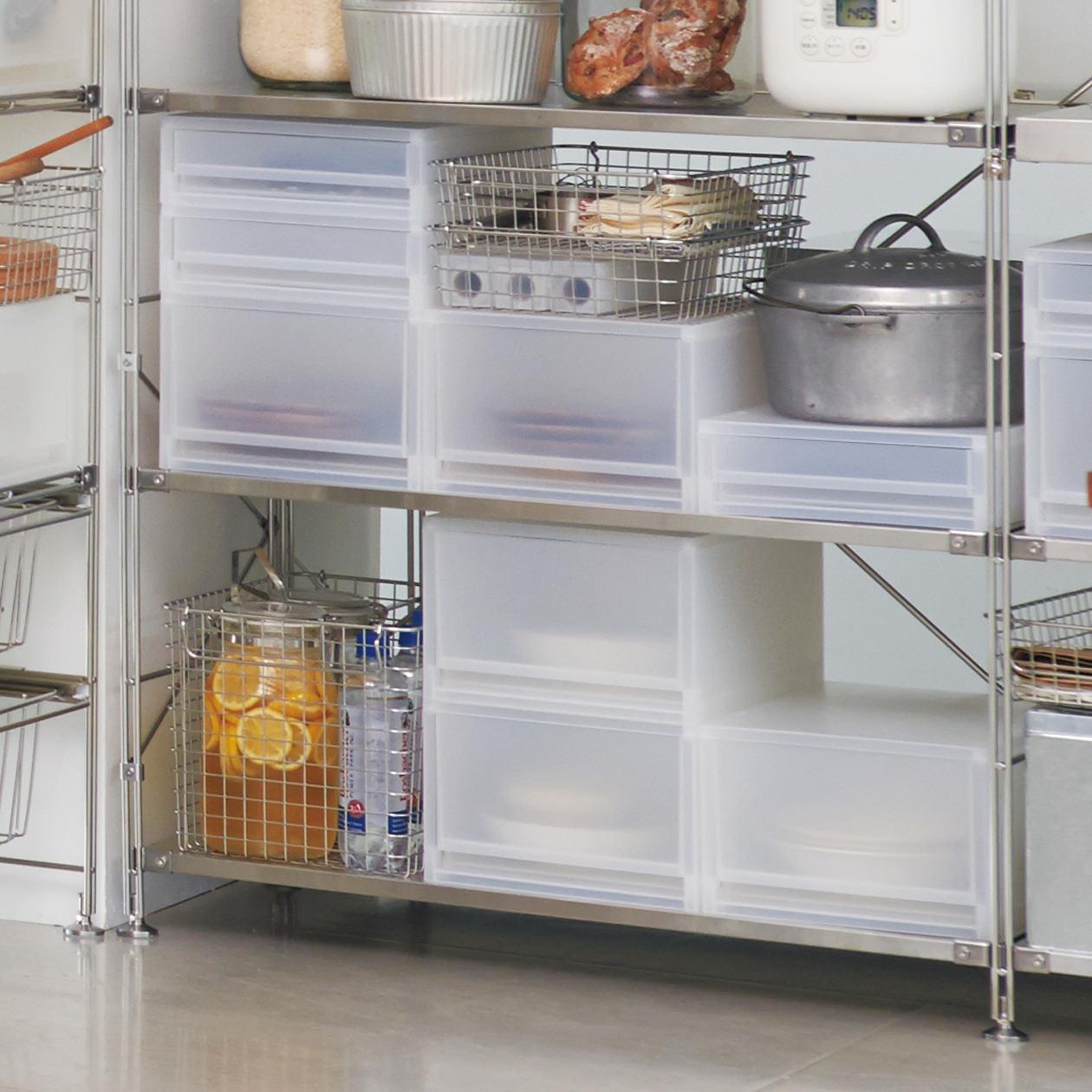無印良品のキッチン収納~シェルフを食器棚&食品庫に!