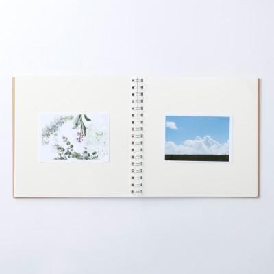 無印 台紙に書きこめる ダブルリングアルバム スクエアタイプ-1